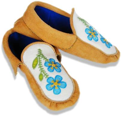 photograph relating to Free Printable Native American Beading Patterns called Judy Kavanaghs Moccasins and Mukluks